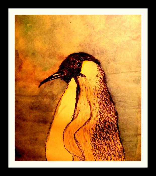 Pinguin mit Rahmen
